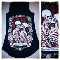 Playera Camiseta Moda Punk Rock Pastelgoth Esqueleto Misfist