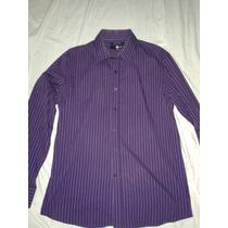 Camisa De Vestir Morada Violeta Marca C&a