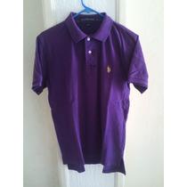 Playera U.s. Polo Assn. Púrpura. Talla M. 100% Original.