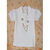No Limpia Closet Blusa Nueva Blanca Algodon Talla S