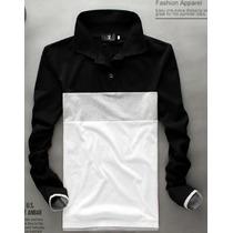 Taboö H - Camiseta Tricolor Cuello Polo - Moda Asia