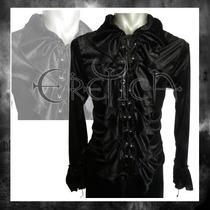 Camisa Eretica Terciopelo. Dark, Gotico, Metalero, Hombre 3