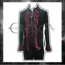 Camisa Eretica Ropa Dark Terciopelo.gotico, Punk Hombre 2