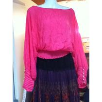 Preciosa Blusa Color Rosa Talla M-g