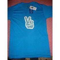 Playera (t Shirt) Marca Gutulo, Azul Turquesa / Pasley