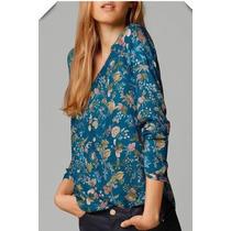 Suku 70317 Blusa Cuello V Estampada Flores Moda Japón $439