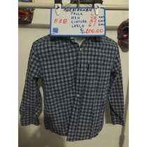 Camisa Abercrombie Cuadors Azules Talla L Seminueva 838
