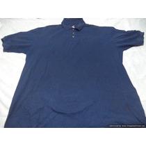 Polo Americano Marca Hanes Talla Xl Color Azul Marino M/c