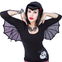 Blusa Camiseta Kreepsville Alas Murcielagos Bat Gotico Dark
