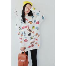 Suku 71011 Jersey Estampado Moda Japón $649