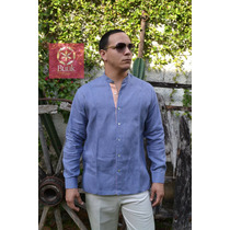 Filipina Yucateca (guayabera Cuello Mao) 100% Lino Italiano