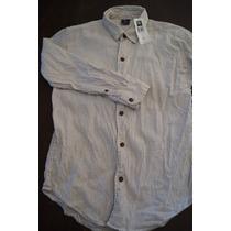 Camisa Gap Niño Algodon T-m(8) Excelente Precio!!!!