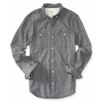 Camisa Manga Larga Aeropostal Caballero Estilo 4601 Gris