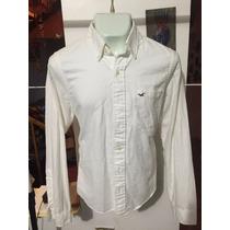Camisa Hollister Blanca Talla Xl Seminueva 3021 *