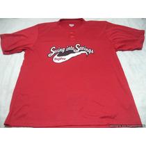 Polo Jersey Deportivo Marca Augusta Talla Xl Color Rojo