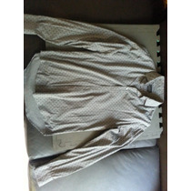 Zara Man Camisa M Slim Fit Gris Con Puntos Negros Original