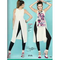 Bluson Blusa Ultima Moda Larga Abierto Por Los Lados Fashion