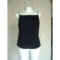Blusa Top Negra De Tirantes Ny & Co Talla-xl! Bl727