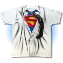 Playera Camisa Superman, Playa Fiesta, Disfraz, Corbata Hero