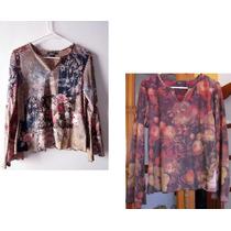 Set 2 Blusas Para Dama De Tela Aterciopelada - Usado $x2