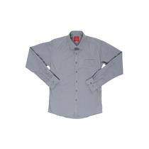 Camisa De Vestir Gris Oscar De La Renta Slim Fit Niño 4 6 10