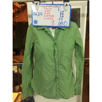 Blusa American Eagle Verde Talla 2 Seminueva 3630