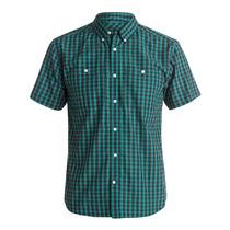 Camisa Vestir Casual Verde Atura Ss Hombre Sprng Dc Shoes