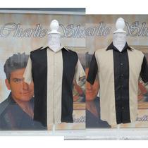 Camisa Caballero Boliche Bowling Vintage Charlie Sheen Harpe