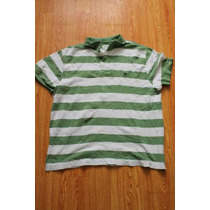 Playera Polo American Eagle Talla Xl Color Blanco Y Verde