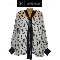 Blusa Top Xxl 2x Grande Blanca Kardashian Collection 20w Ve!