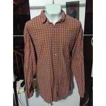 Camisa Abercrombie Cuadros Rojos Talla Xl Seminueva 3042 *