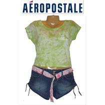 Playera Aeropostale Xl X Grande Verde Aqua Difuminada Oferta