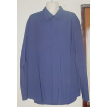 Armani Exchange Camisa Caballero Color Azul Talla Xl Op4