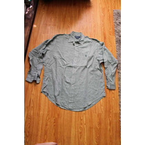 Camisa Ralph Laurent Talla 17 Cuello Y Manga 35 Verde