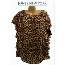 Blusa S Chica Mujer Estampado Tigre Finisima Marcada Talla 4