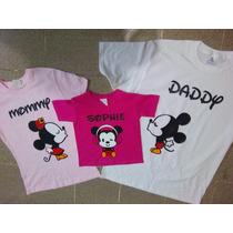 Playeras Familia Mickey Personalizadas, Playeras Iguales