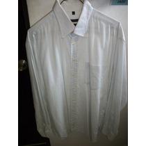 Camisa Marca Mcneal Blanca Con Cuadros Manga Larga