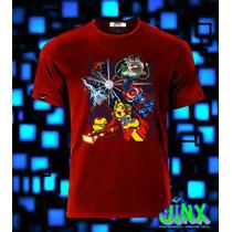 Playeras O Camiseta Avengers Pokemon, 100% Algodon