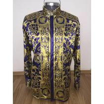 Camisa De Seda Estilo Italiano Versace, Gianni Versace Seda