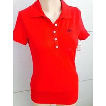 Blusa Color Rojo Tipo Polo Talla S Aeropostale Moda 0073