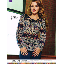 Blusa De Dama Marino Multicolor 251-85