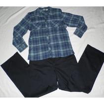 Traje Casual Blusa Camisa Y Pantalon Dockers Xl Usa = 38- 40