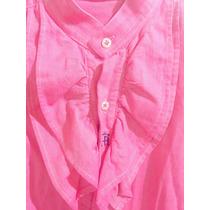 Camisa Rosa/roja Marca Exclusiva Española Hierro Y Albero