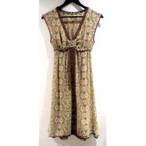 Vestido De Seda Max Studio - Fashionella - S