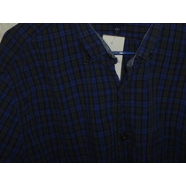 Camisa Gap Azul Y Gris A Cuadros Nueva Talla L