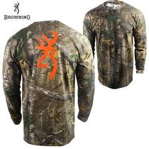 Camiseta Browning Caceria Camo Tiro Originales Buckmark