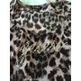 Blusa Animal Print Leopardo Logo Guess Transparencia Encaje