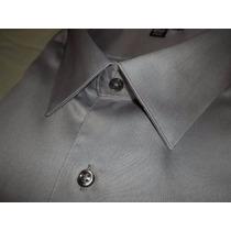 Camisa 2xl Gris., Satinada Muy Elegante