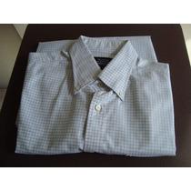 Camisa Faconnable Talla L Cuadro Cuadro Gris Envio Gratis