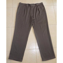 Pantalon De Vestir Perry Ellis Talla 40x32 100% Lana